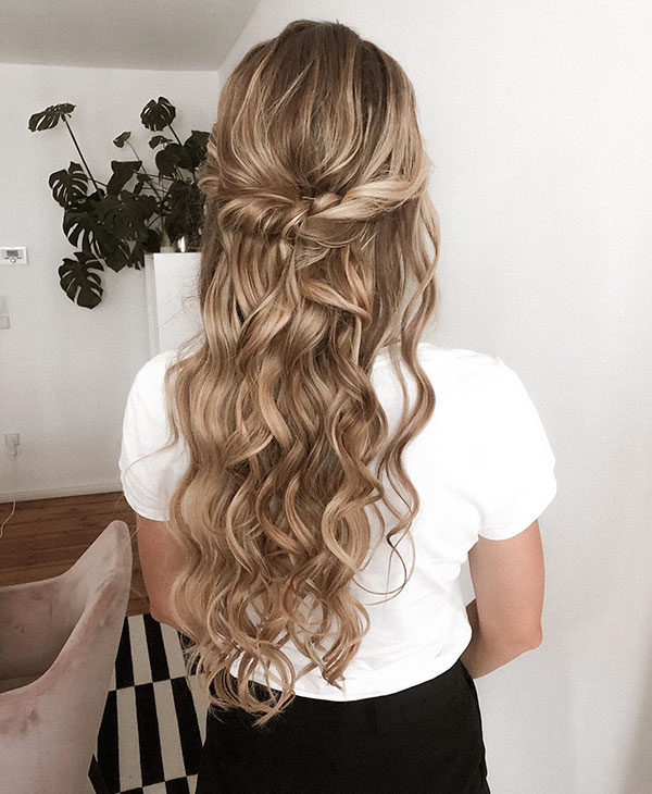Half Up Long Hairstyles For Women
