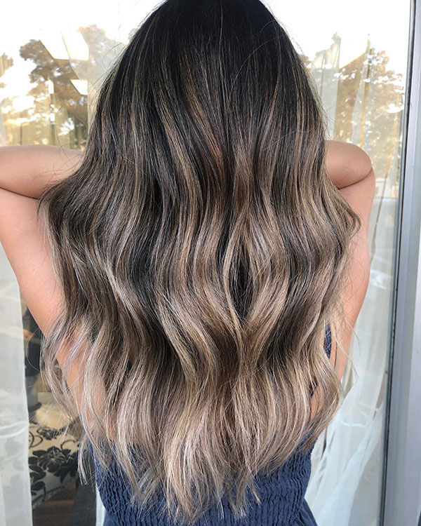 Brown Ash Color For Long Hair