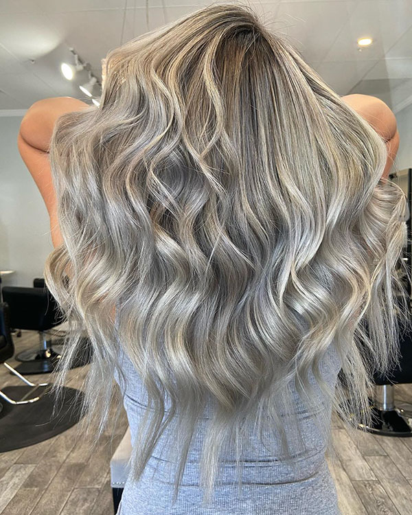Blonde Ash Color For Long Hair