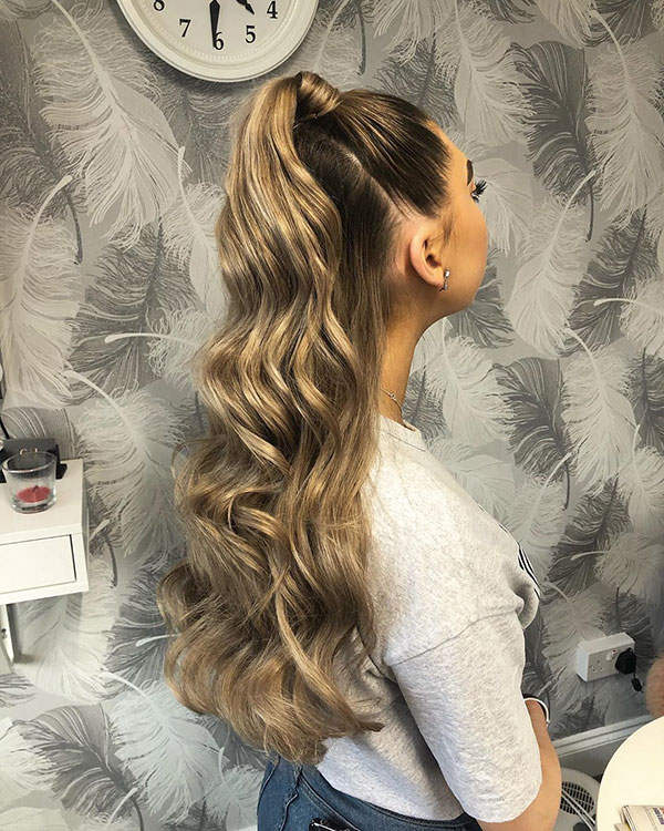 Ideas Of Half Up Hairstyles For Long Hair