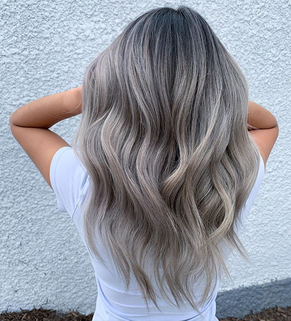 Ash Color For Long Hair