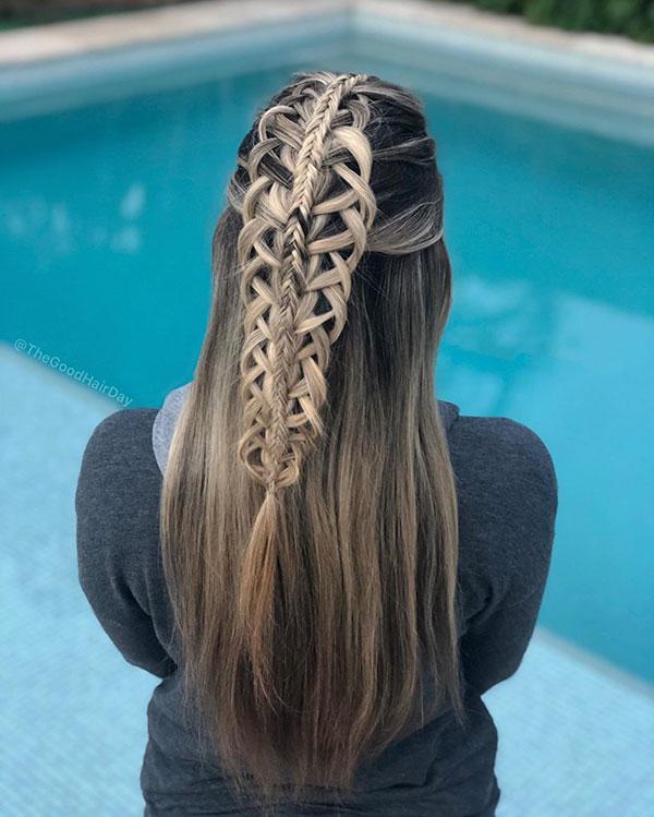 Long Half Up Hairstyles 2020