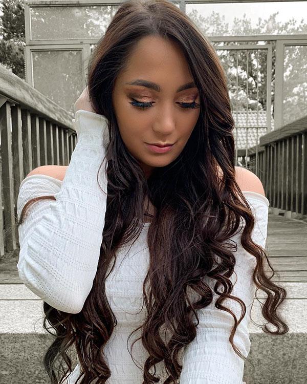 Long And Brunette Hair