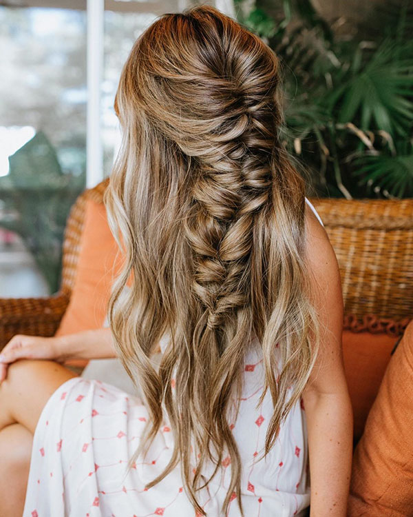 Long Hair And Quick Hairstyle