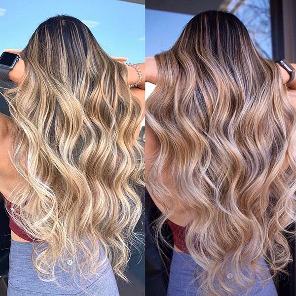Female Balayage Long Hair