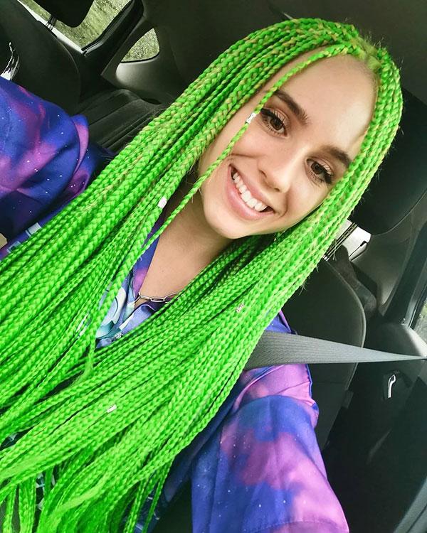 Long Green Hair Ideas
