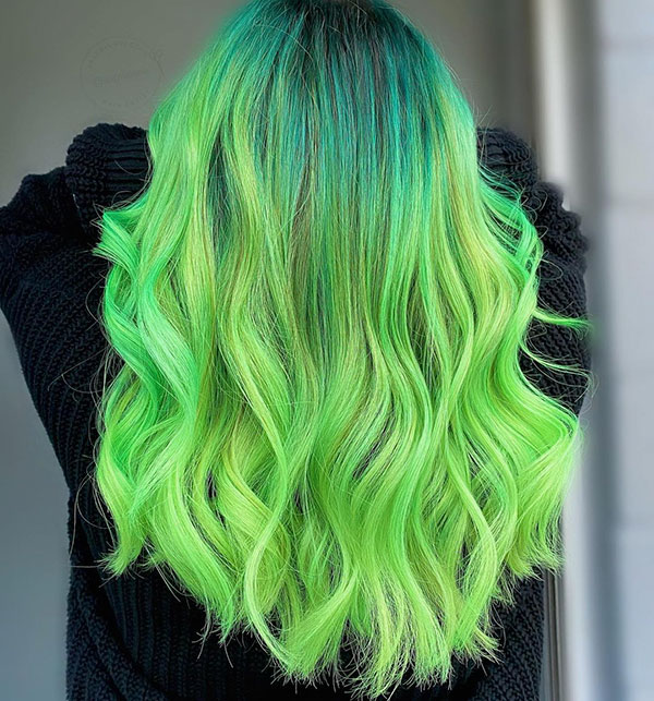 Long Green Hairstyles