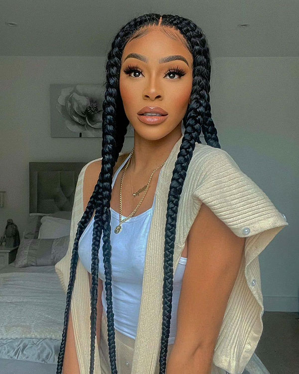 Long Braided Hairstyles For Black Women