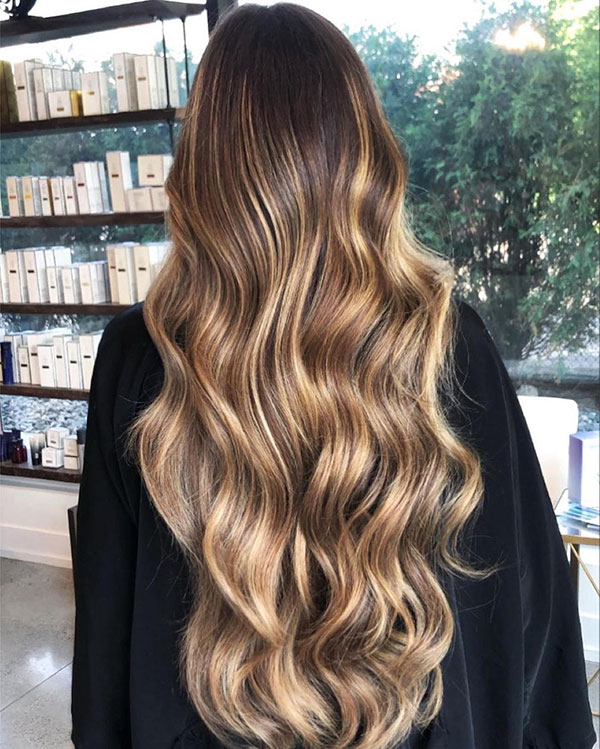 Long Hair And Ombre Hair Color