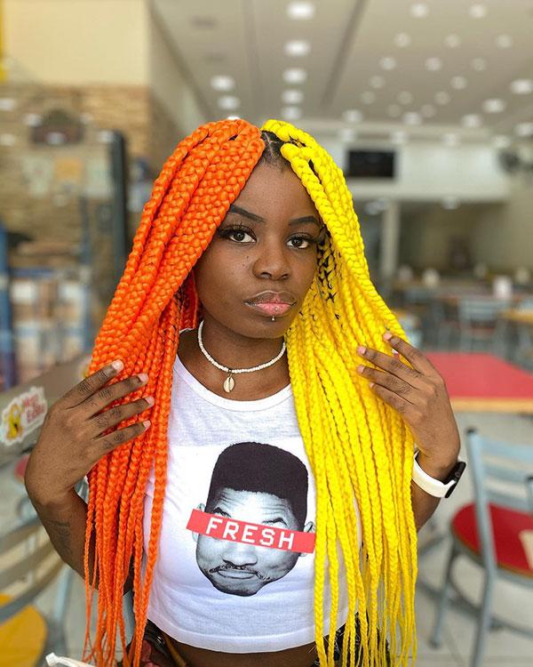 Long Box Braids For Black Women
