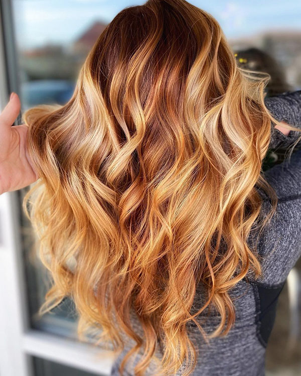 Long Balayage Hair