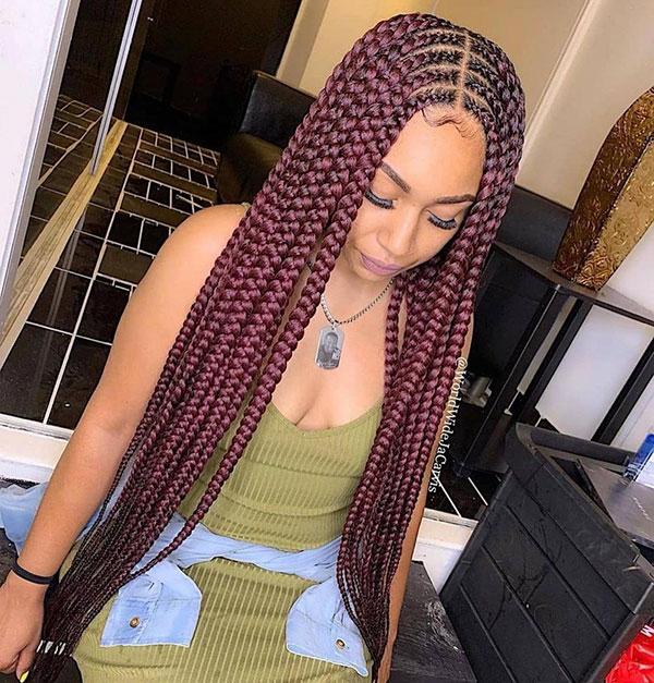 Long Braided Hair For Black Women