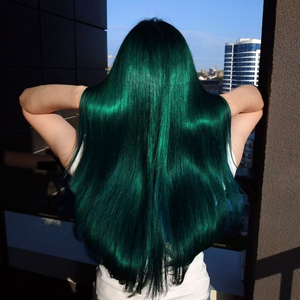 Girls With Long Green Hair