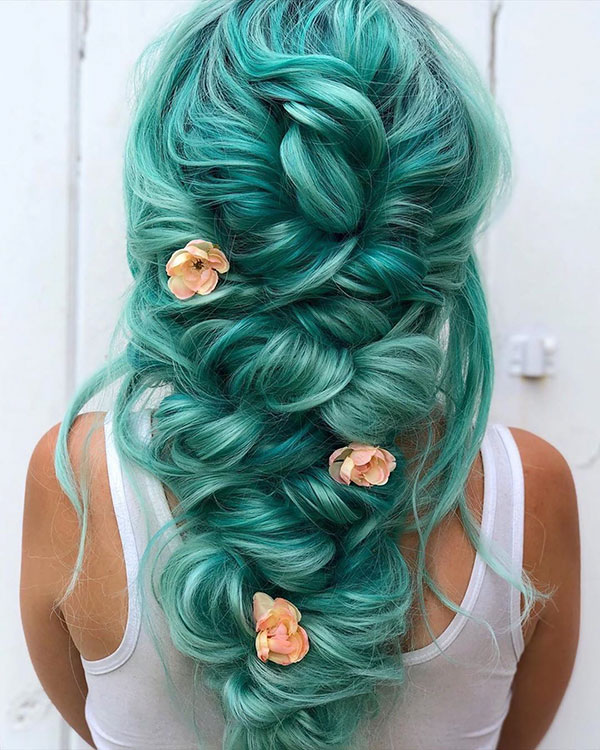 Hairstyles For Long Green Hair